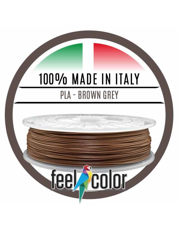 Filo Stampante 3D PLA Grigio Marrone image